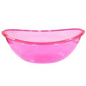 Party Dimensions Neon Oval Contour Plastic Bowl, 2370ml, Pink