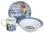 Olaf, Disney Frozen Snow Expert 3-Piece Dinnerware Set