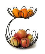 Spectrum Diversified 21210 Bloom Arched 2-Tier Fruit Server, Black