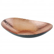 Elegance 72092 Oval Bowl, 30cm x 22cm , Black/Copper