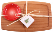 Out of the Woods of Oregon Appetiser Serving Board with Red Serving Bowl