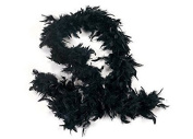 1.8m Adult Party Costume Decoration Feather Boa Black