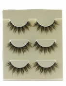 3 Pairs 3D Soft Cotton stems False Eyelashes Natural Bare Nude makeup