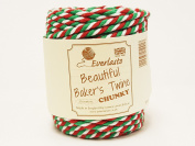 Beautiful Chunky Red, Green & White 20m Spool of Baker's Twine by James Lever 'Everlasto'