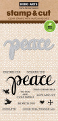 Hero Arts DC187 Peace Stamp & Cut Card Making Kit