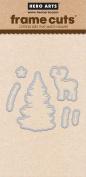 Hero Arts DI310 Colour Layering Snowy Tree Frame Cuts Card Making Kit