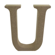 Dovecraft Wooden MDF decorative Embelishment Letter Collection Letter - U