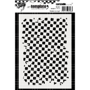 Carabelle Studio Template A6-Grunge Cheque Pattern