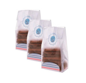 Yunko 50 Pack Transparency Flat Cello Cellophane Treat Bags with Seal and Card Tray DIY