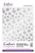 Crafter's Companion Scrapbooking Craft Snowflake Vellum - Silver