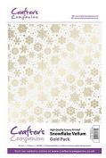 Crafter's Companion Scrapbooking Craft Snowflake Vellum - Gold