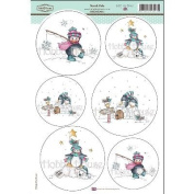 Daisy Mae Draws Topper Sheet 22cm x 31cm -North Pole