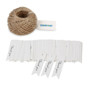 Shintop Thank You Tags - 100PCS Kraft Paper Gift Tags Bonbonniere Favour Wedding Hang Tags with Free 30m Natural Jute Twine