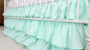 Solid 3 Tiered Ruffled Crib Skirt - Fits standard cribs