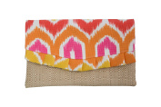 Caught Ya Lookin' Nappy Clutch, Pink and Orange Chevron