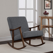 . Retro Design, Wooden Rocker Chair, Grey