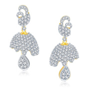 V. K. Jewels Bollywood Fashion Women's Attractive Gold And Rhodium Plated Jhumki [Jewellery]