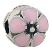 Authentic Sterling Silver Dazzling Daisy Pink Clipper Charms Floral Bead Fits Pandora Charms