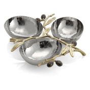 Michael Aram Olive Branch Triple Compartment Dish, Gold