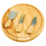 Rubberwood Board and Serving Set