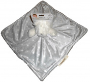 Blankets & Beyond Bear White with Grey Polka Dot Blanket Nunu