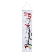 Trend Lab Dr. Seuss Cat in The Hat Canvas Growth Chart, Red/Grey/White