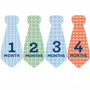 Design Corral Seaside Baby Tie Stickers Necktie Stickers For Baby Boy Onsie Stickers Milestone Stickers