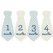 Design Corral Baby Tie Stickers Necktie Stickers For Baby Boy Onsie Stickers Milestone Stickers Blue