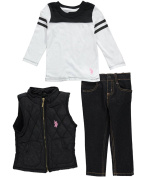 """U.S. Polo Assn. Baby Girls' """"Cosy Textiles"""" 3-Piece Outfit"""