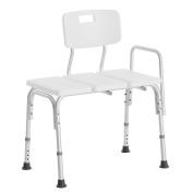 Anself Adjustable Height Shower Bath Chair Seat Medical Bathroom Bath Tub Transfer Bench