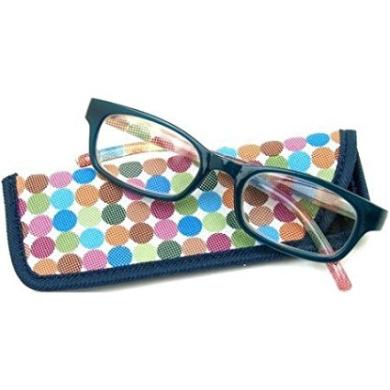 Foster Grant eyesential Women's Cecily Reading Glasses, Multicolor Polka Dot +3.00