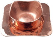 Sertodo Flat Earth Platter and Bowl set, Hammered Copper