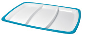 Omada M4540TC Turquoise Square Hors D'Oeuvre Tray