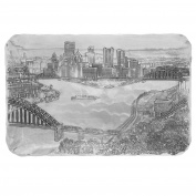 Wendell August Forge Pittsburgh Cityscape Sandwich Tray