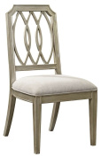 Dining Side Chair in Antique Gold Finish