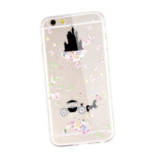 iPhone 6S Case,UZZO ,iPhone 6 6S Case (12cm ) [Slim Fit] Clear TPU Gel Rubber Skin Silicone Protective Case,Dolphin Penguin Flower Angel Girl Pattern TPU Bumper Case for iPhone 6 (2014) / 6S