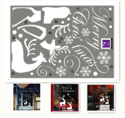 MAXGOODS Merry Christmas Snowflake Reindeer Wall sticker Commodity Window Decoration