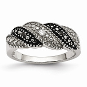 Top 10 Jewellery Gift Stainless Steel Black and Clear CZ Ring