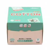 Wipes,PeleusTech 50Pcs Cotton Removable Tissue Napkin Face Towels Disposable Cleaning Face Towel Dry and Wet Soft Cloth