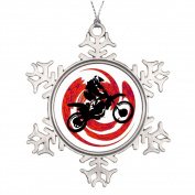 Funny ship Racing Ideas For Decorating Christmas Trees Extreme Family Christmas Snowflake Ornament Dirtbike