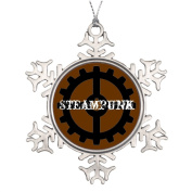 Funny ship Goth Tree Branch Decoration Vintage Bedroom Snowflake Ornaments Gears