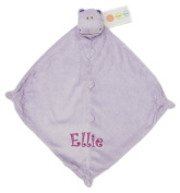 Personalised Embroidered Monogrammed Angel Dear Purple HIPPO Security Blanket