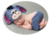 Baby Box Newborn Baby Photography Outfit Props Set,Donkey