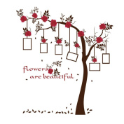 Gaosaili Removable Family Flower Tree Photo Frame Wall Decal For Nursery Bathroom Bedroom Decoration