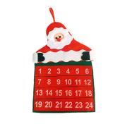 Vivian Christmas Countdown Calendar Santa Claus Hanging Calendar Ornaments