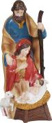 Hand Over Heart Holy Family 30cm x 14cm Resin Stone Christmas Figurine