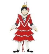 Traditional Spanish Dancing Wood Pull Puppet