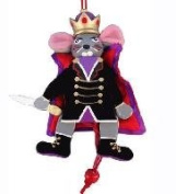 Nutcracker Ballet Mouse King Wood Dancing Pull Puppet