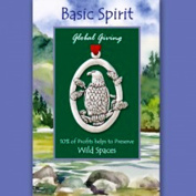 Basic Spirit Global Giving Wild Spaces Pewter Ornament, Eagle, Made in Nova Scotia