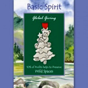 Basic Spirit Global Giving Wild Spaces Pewter Ornament, Bear in Tree, Made in Nova Scotia
